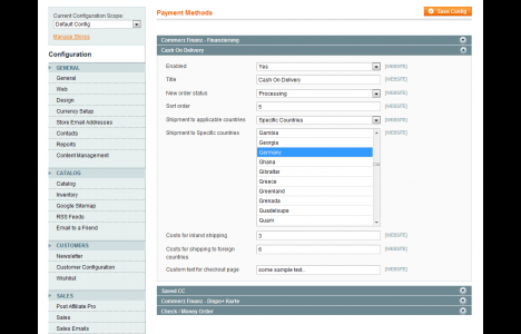 Magento Rembours / Cash on Delivery