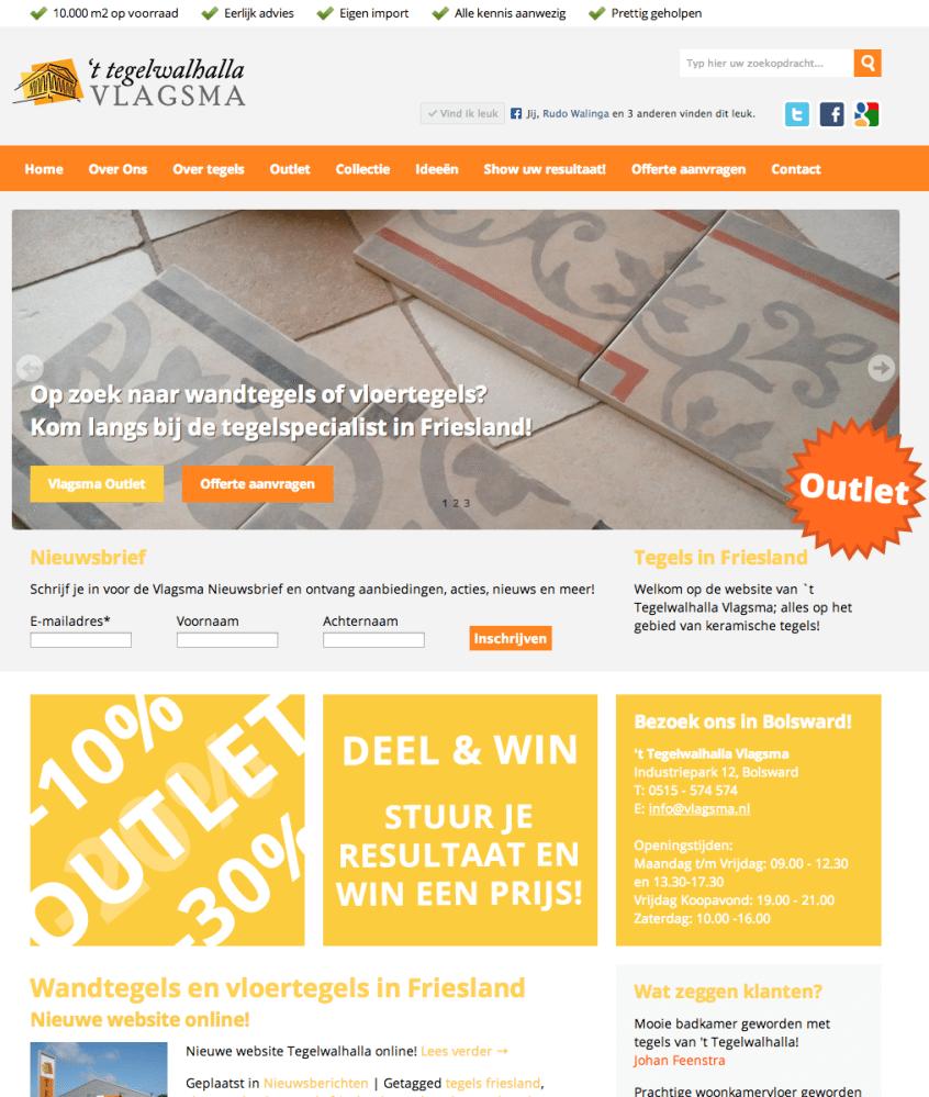 Nieuwe website Vlagsma Tegelwalhalla